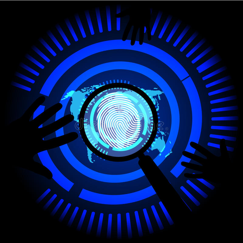Dark blue Abstract digital conceptual technology security background with lock vector illustration
