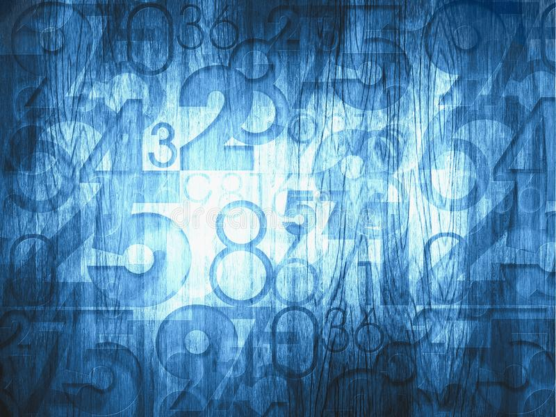 Dark blue abstract numbers stock illustration