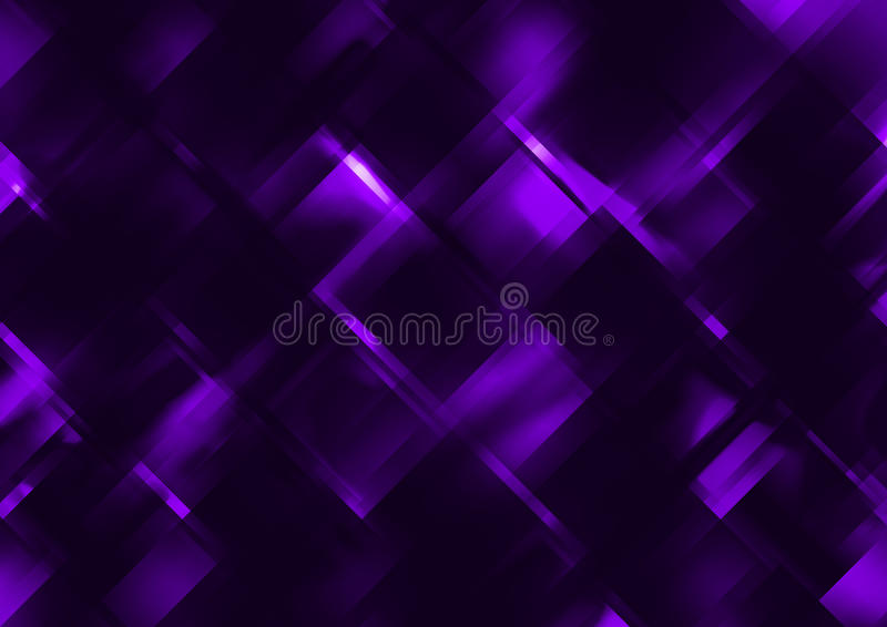 Dark blue abstract prism fractals royalty free illustration