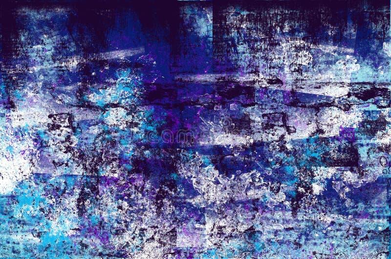 Dark blue and black grunge background illustration vintage rough surface royalty free illustration