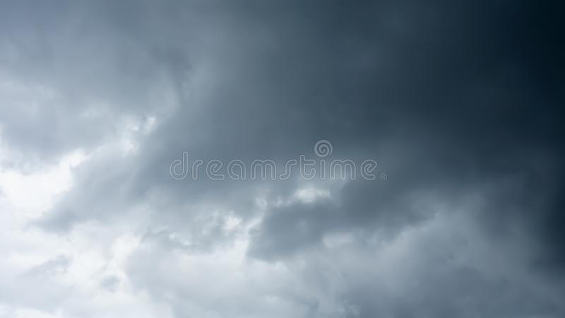 The Dark Blue cloud on the sky royalty free stock photo