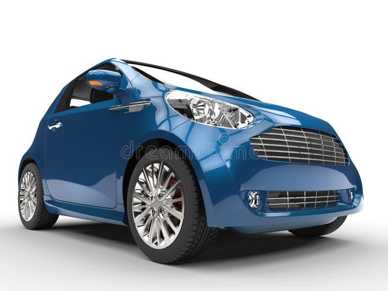 Dark Blue Compact Car - Front Closeup View stock photos
