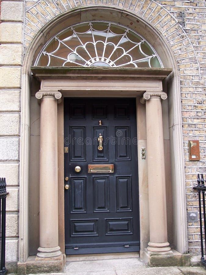 Download Dark Blue Dublin Door stock photo. Image of eleven, brick - 464324