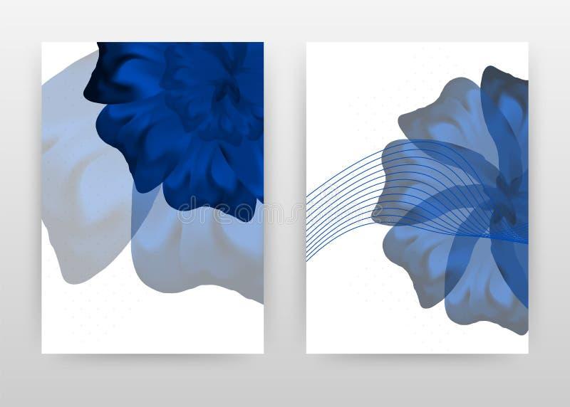 Dark blue flower petal design for annual report, brochure, flyer, poster. Flower on white background vector illustration for flyer. Leaflet, poster. Business stock illustration
