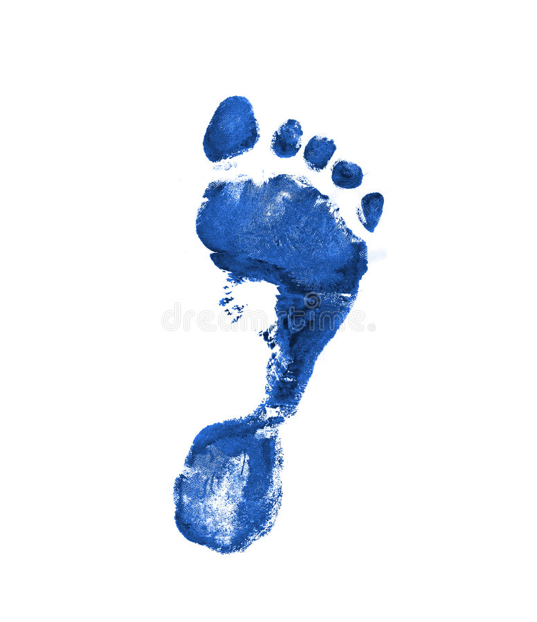 Free Dark Blue Footprint Stock Photos - 3244983