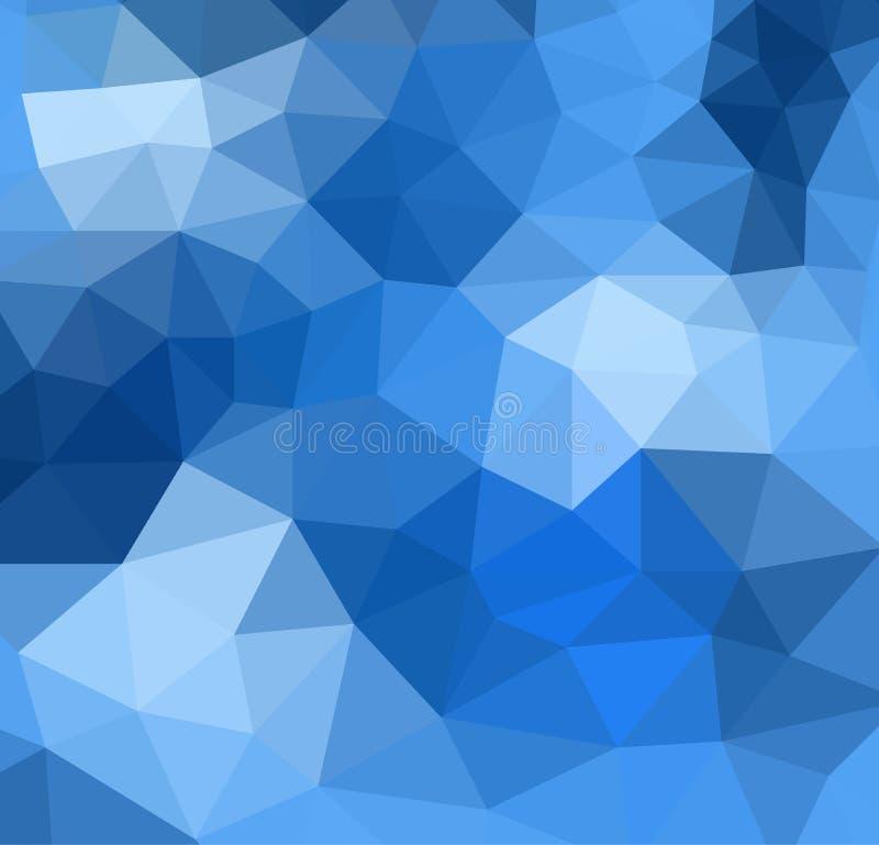 Dark blue geometric triangular background stock illustration
