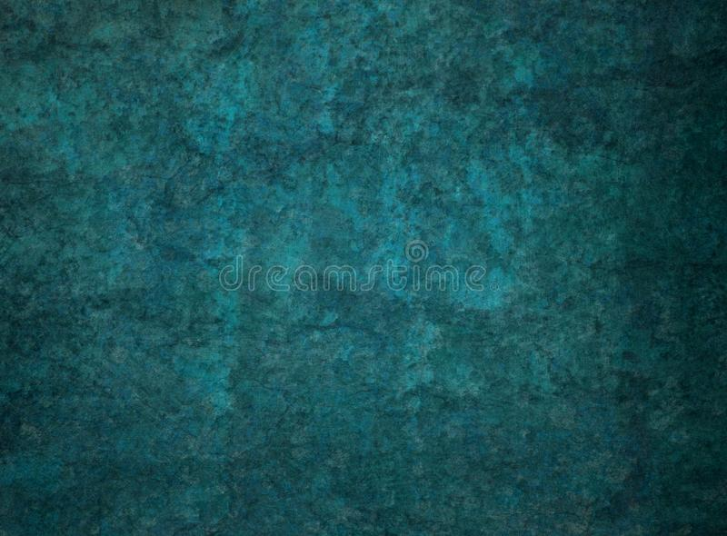 Dark blue green background with black distressed grunge rock or stone texture royalty free stock photography