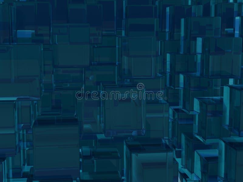 Download Dark Blue Green Transparent Cubes Background Stock Illustration - Illustration: 26904536
