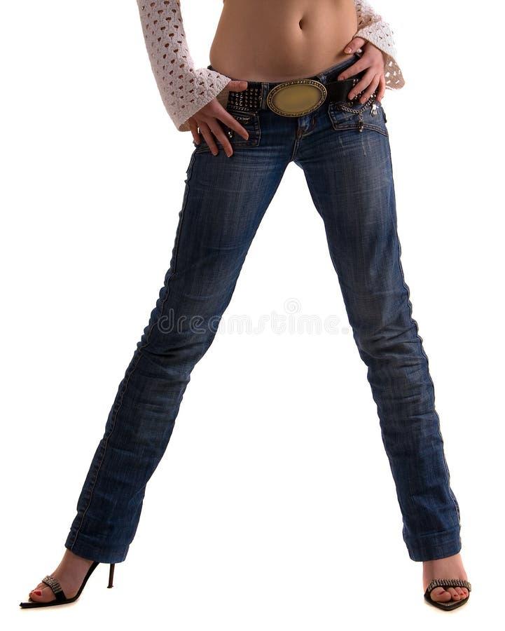 Dark blue jeans stock images