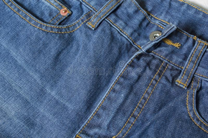Dark blue jeans texture. Part of the jeans pants texture royalty free stock images