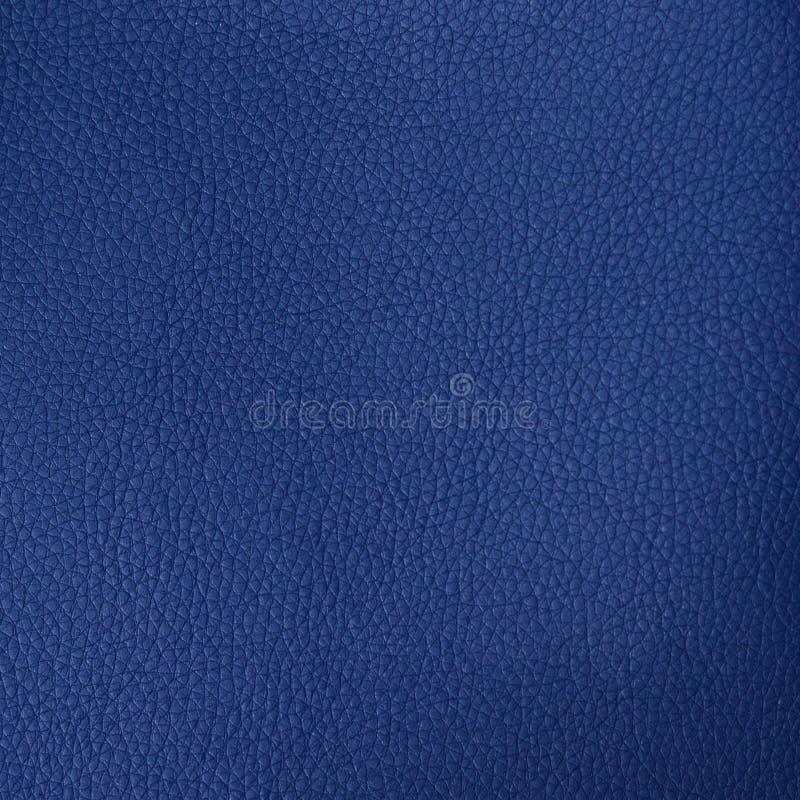 Dark blue leather texture stock photo