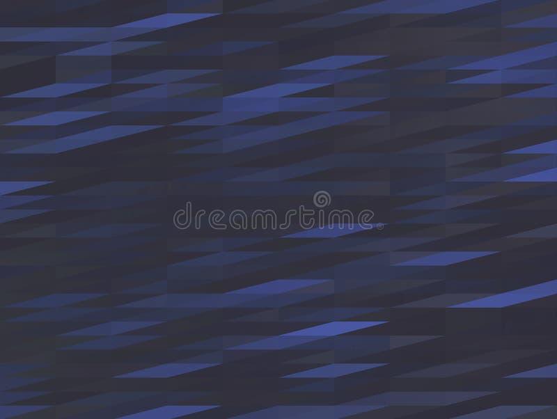 Dark blue low-poly background, polygonal triangular grey wave vector illustration