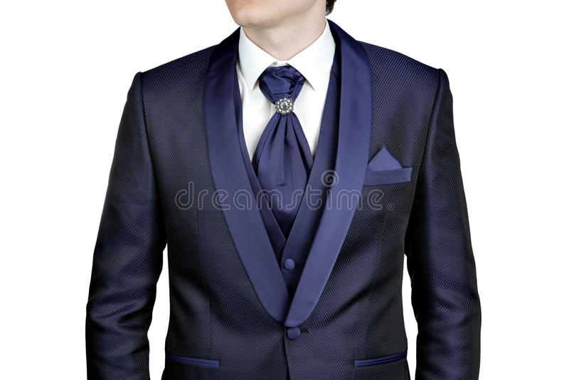 Dark Blue Men Suit, Wedding Or Evening, Waistcoat, Shirt, Plastr ...