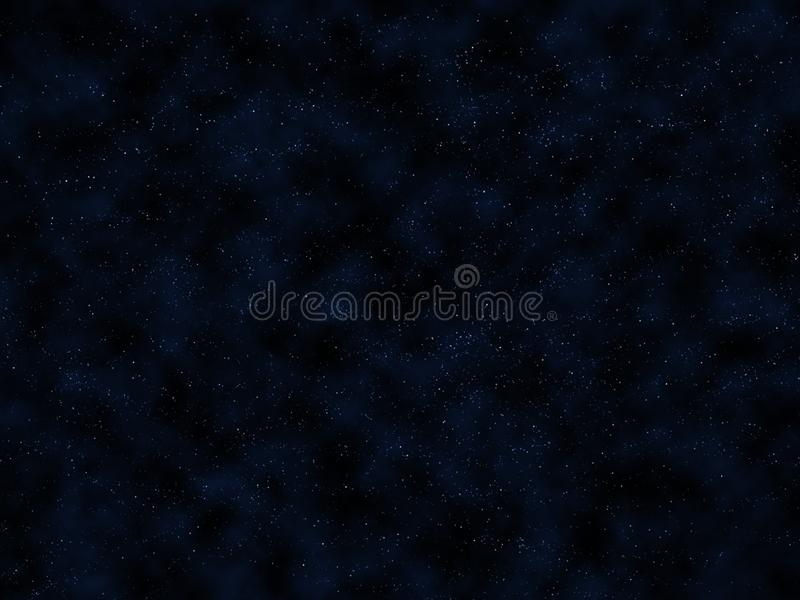 Dark blue night sky with bright stars and clouds stock images