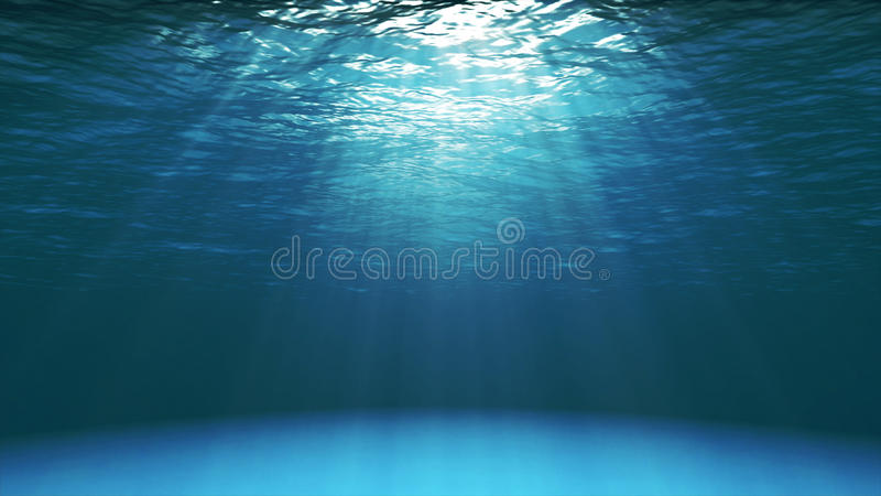 Dark blue ocean surface seen from underwater royalty free stock photos