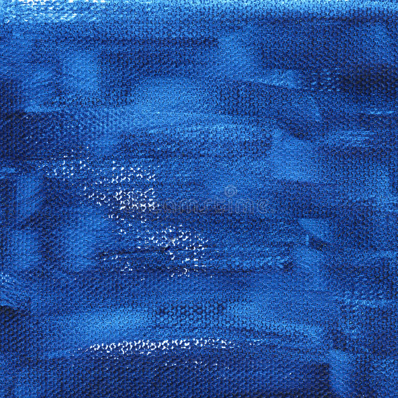Dark blue painted background on canvas royalty free stock images