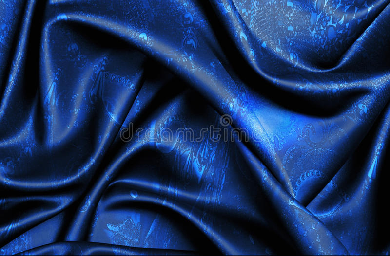 Dark Blue Patterned Fabric stock photography