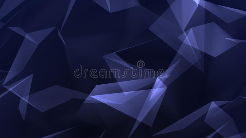 Dark blue polygon abstract background stock image