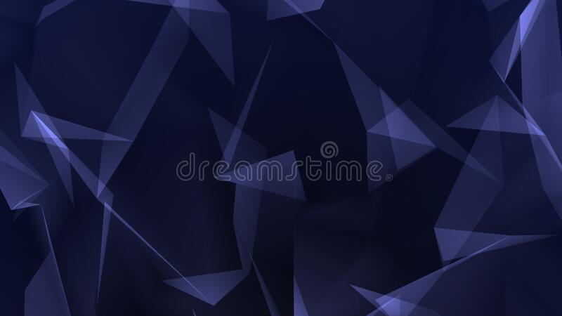 Dark blue polygon abstract background stock photo