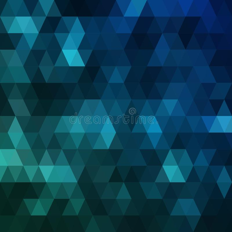 Dark blue polygonal background. Colorful abstract illustration with gradient. The textured pattern can be used for vector illustration