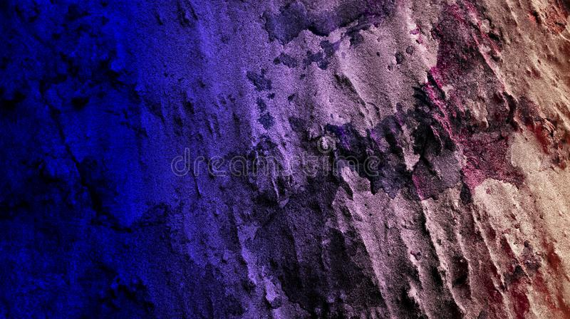 Dark blue sand color mixture effects abstract wall textured background wallpaper vector illustration. royalty free illustration