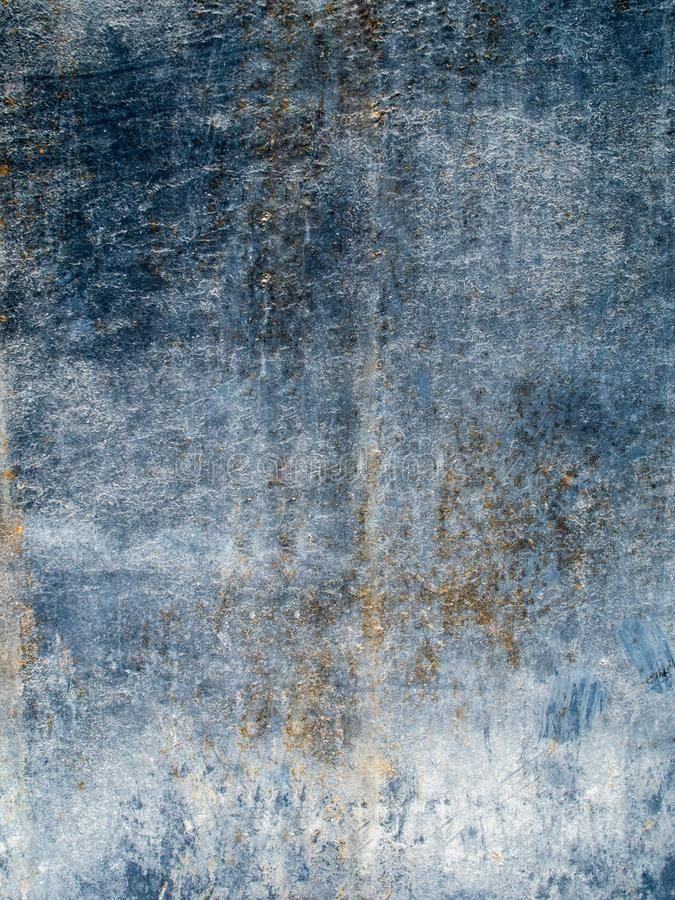 Rust metal texture, abstract grunge background. Dark blue shabby metal texture, abstract background royalty free stock image