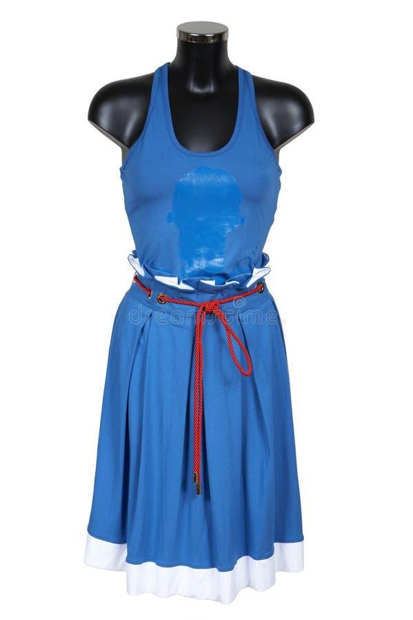 Download Dark blue skirt and vest stock photo. Image of dress, mannequin - 2657448