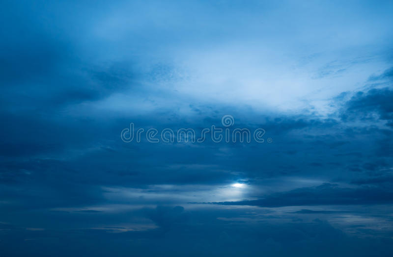 Dark blue sky and cloud royalty free stock image
