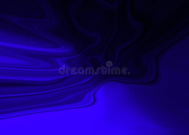 Dark blue smoky background royalty free illustration