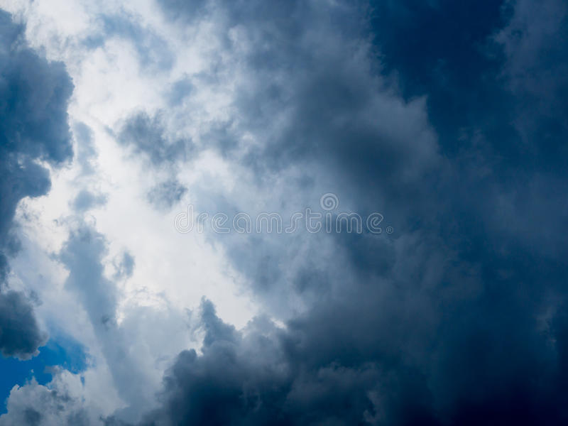 Dark blue stormy cloudy sky. Natural photo background. Dramatic dark sky and Clouds Background royalty free stock photos