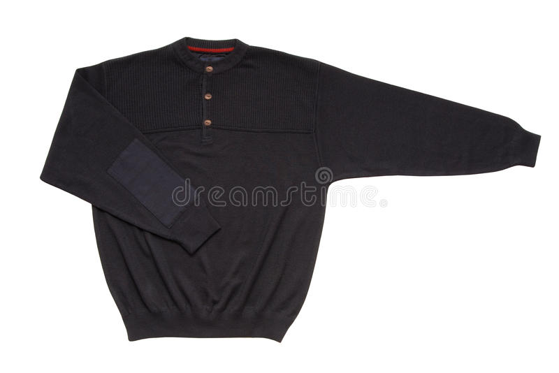 Dark blue sweater royalty free stock image
