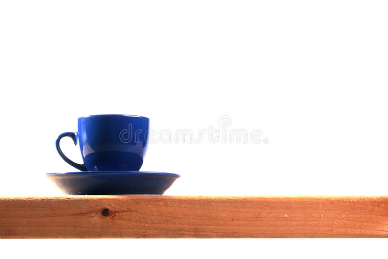 Dark Blue Tea Cup Stock Image
