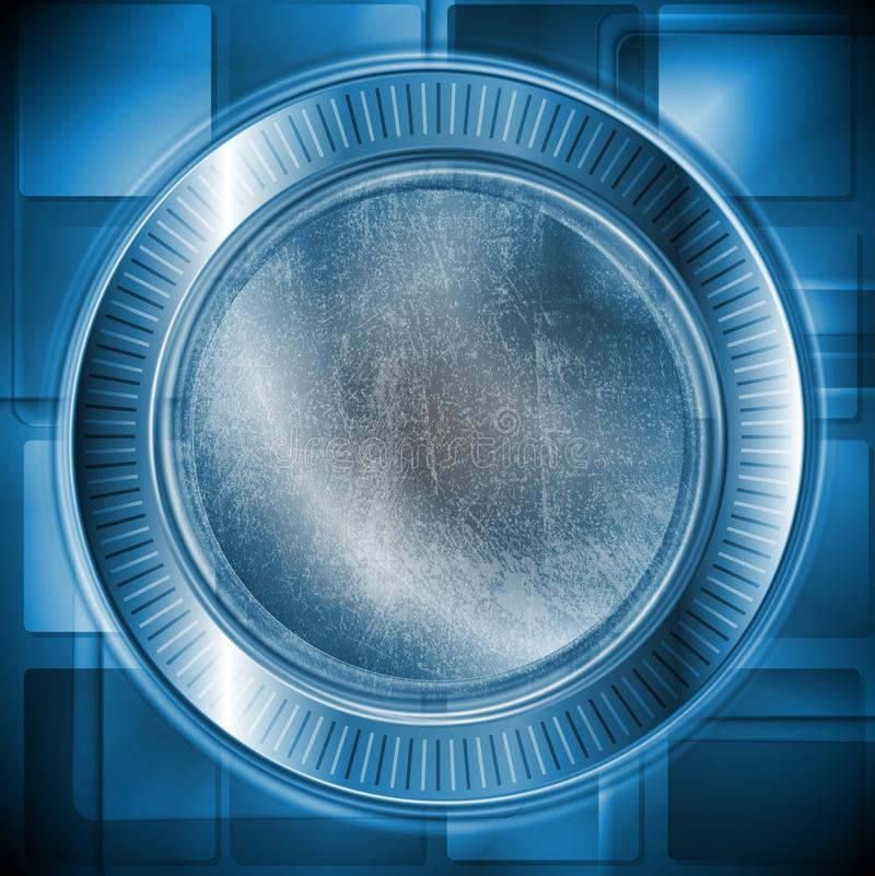 Download Dark Blue Technology Design. Grunge Style. Vector Stock Vector - Illustration of gear, abstract: 27333339