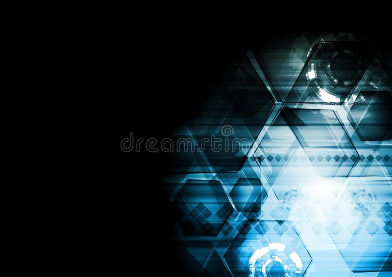 Download Dark Blue Technology Vector Background Royalty Free Stock Image - Image: 32917406