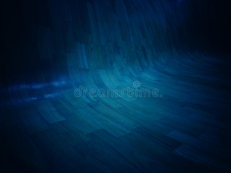 Dark blue tone background with motif and abstract. For vintage and wallpaper royalty free stock photo