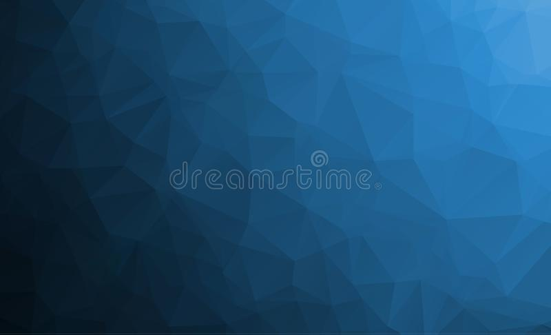 DARK BLUE vector abstract textured polygonal background. Blurry triangle design. Pattern can be used for background royalty free illustration