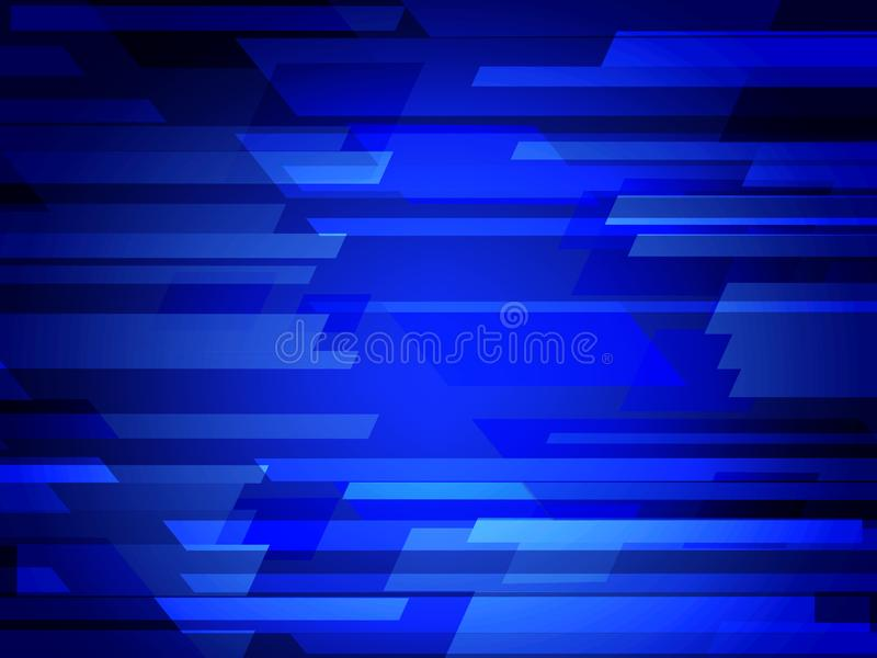 Dark BLUE vector polygonal illustration, which consist of rectangles. Rectangular pattern for your business design. Geometric back royalty free stock photo