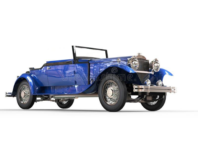 Dark blue vintage convertible car royalty free stock photos
