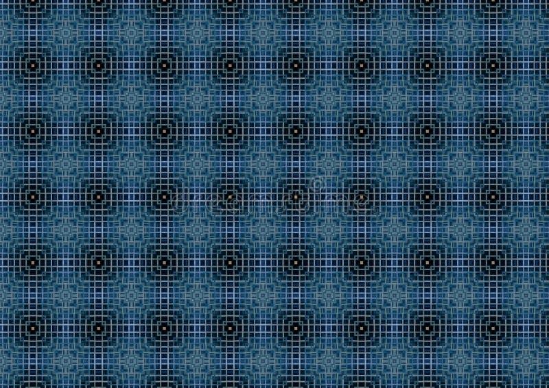 Dark Blue Weave Pattern Stock Photo