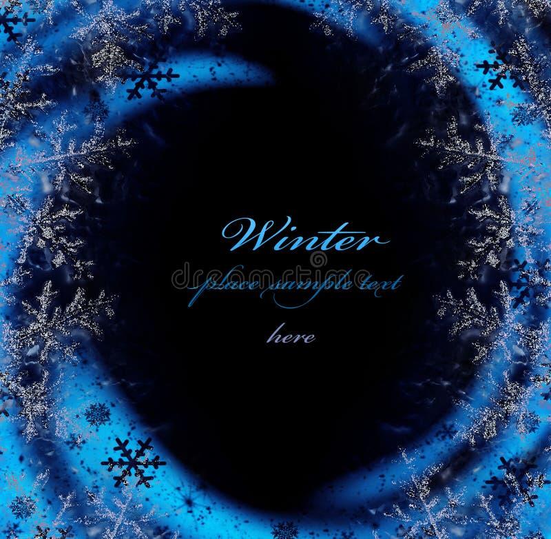 Download Dark Blue Winter Decorative Frame Stock Illustration - Image: 22309073