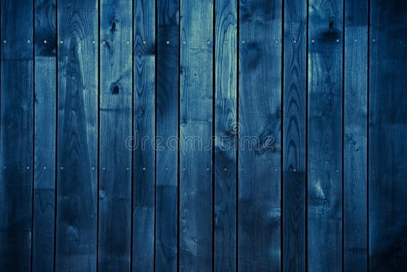 Dark Blue Wood Background royalty free stock photo