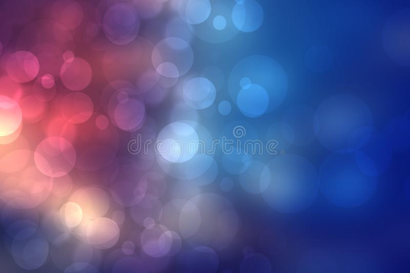 Dark blurred blue background texture. Gradient abstract backdrop with purple light bokeh. Space.  vector illustration