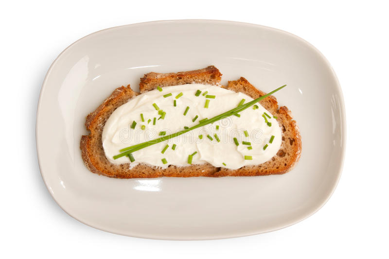 Download Dark Bred With Cheese And Chives Stock Photo - Image: 28588406