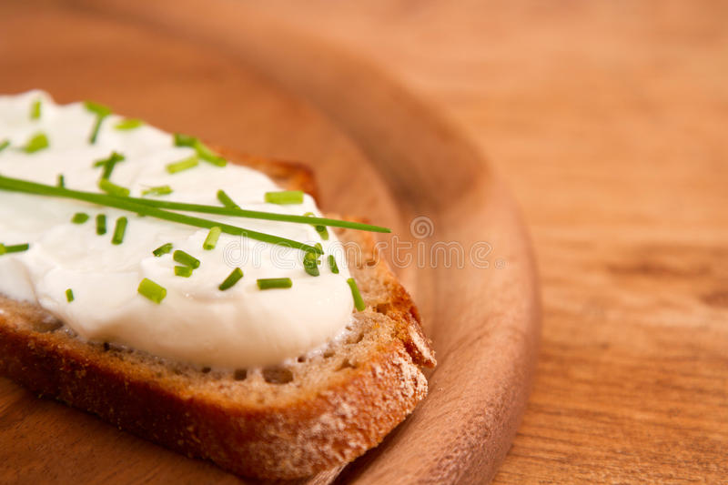 Download Dark Bred With Cream Cheese And DOF Stock Image - Image: 28768073