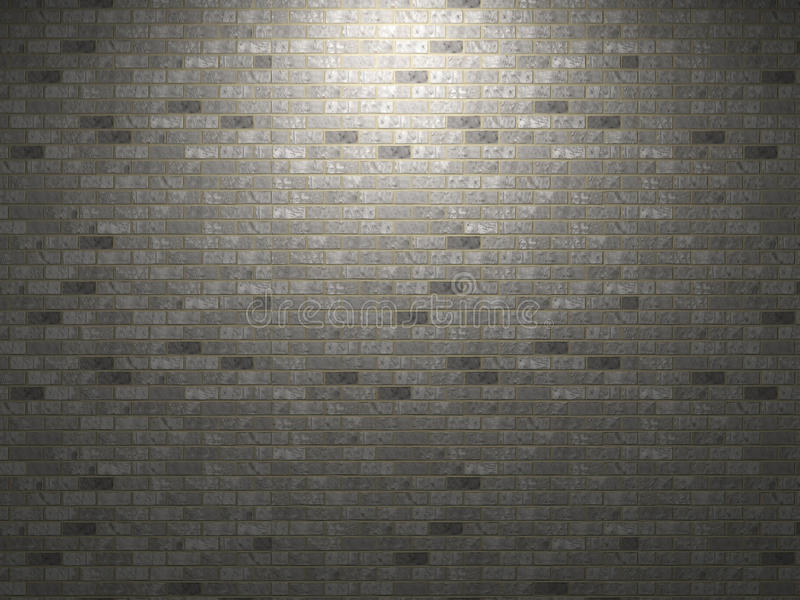 Dark brick wall.
