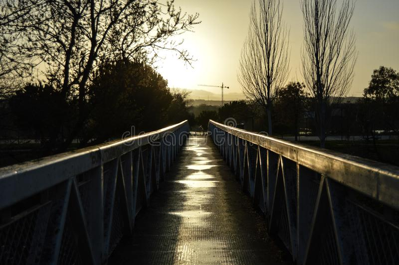 Dark bridge contrast stock image