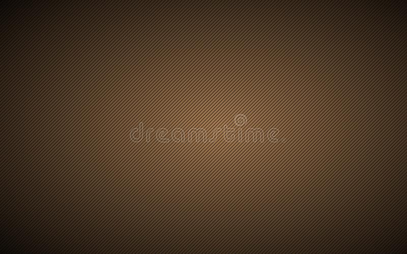 Dark brown abstract metallic background with slanting lines vector illustration