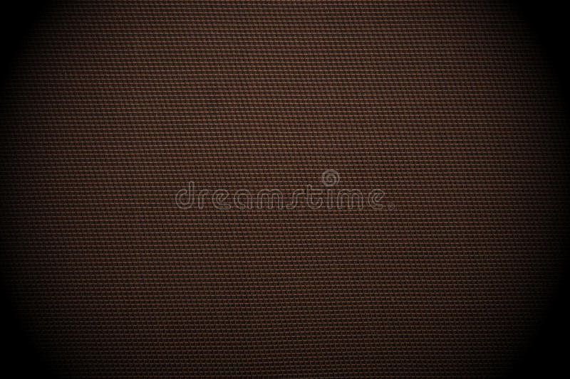 Dark brown checked fabric background stock photography