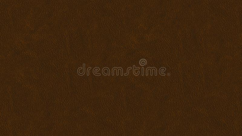 Dark Brown leather texture design. Illustration of brownish leather skin. Leather pattern, leather brush royalty free illustration