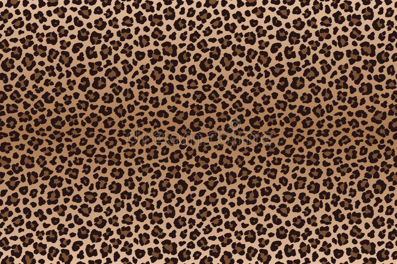 Dark brown leopard spotted fur texture. Vector vector illustration